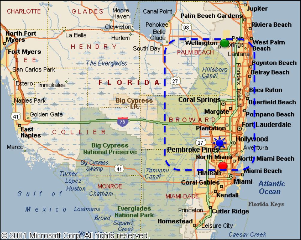 About Us ASAP Gate Plus LLC - Map of southern florida